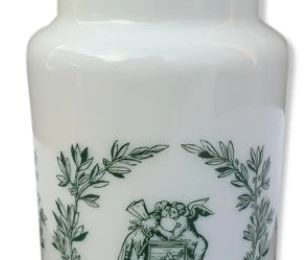 Pot d'apothicaire opaline made in Italy H20 - 7 euros