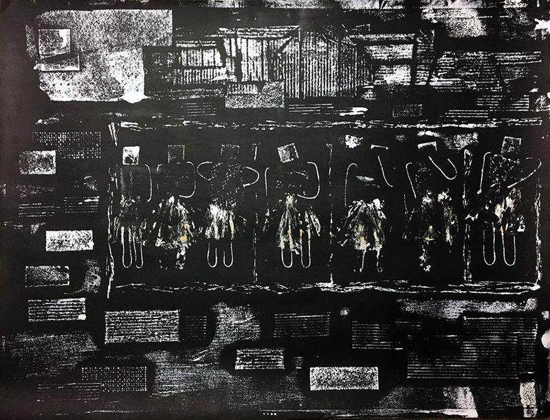 Nicole Orbach - Monotypes à partir du collage en relief ci-dessus