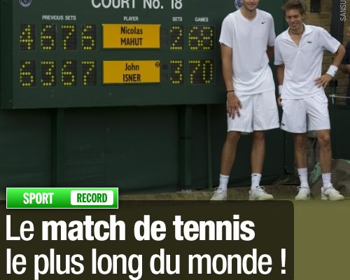 Le match de tennis le plus long du monde !