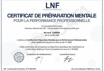 DIPLOME DE PREPARATEUR MENTAL