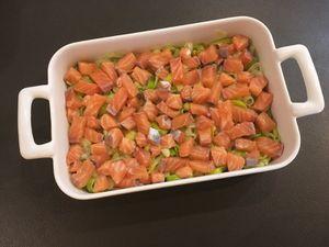 Lasagnes au saumon et aux poireaux