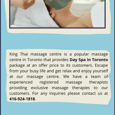 Best Day Spa in Toronto for men and women | King Thai Massage Centre
