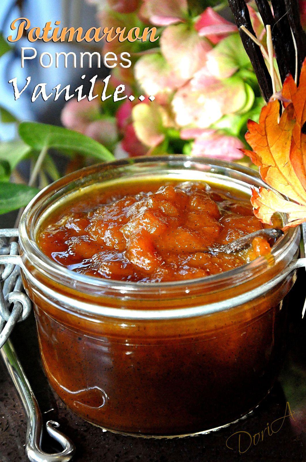 Confiture Béatrix au potimarron, pommes et vanille
