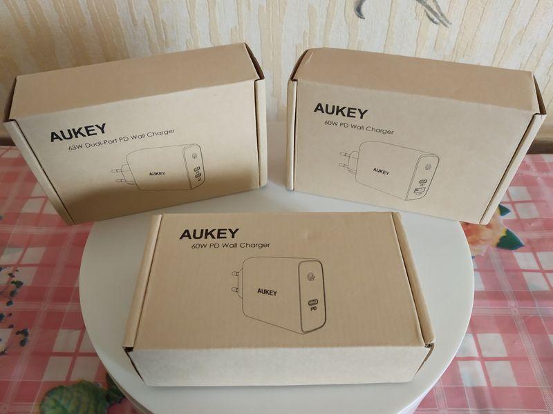 unboxing des chargeurs secteur USB type C Power Delivery 60 Watts - Aukey PA-D3/D4/D5 @ Tests et Bons Plans