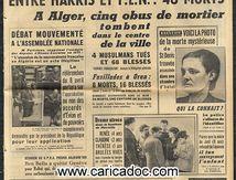«Violents heurts près d'Oran entre harkis et FLN», Parisien libéré, 21/3/1962.