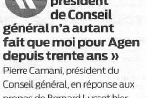 Le conseil général-généreux avec Agen ?