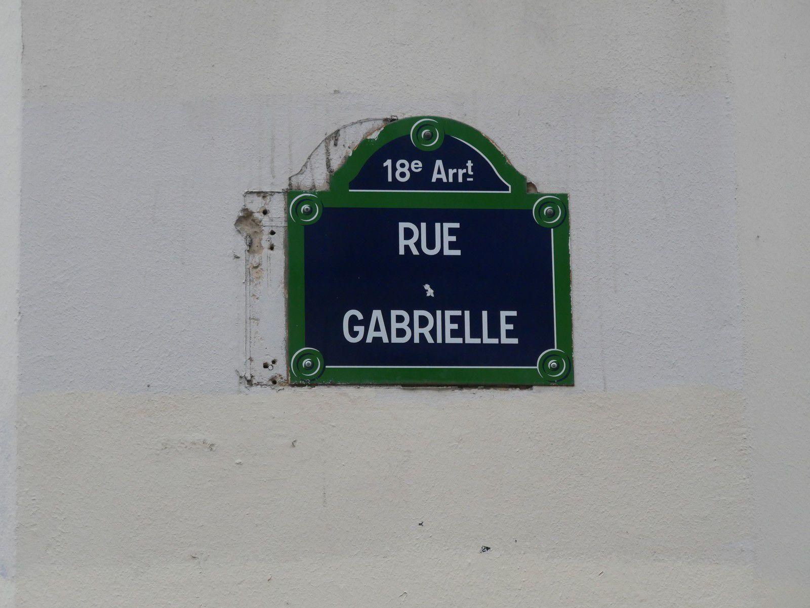 Les rues, places, squares avec des noms de femmes à Montmartre.