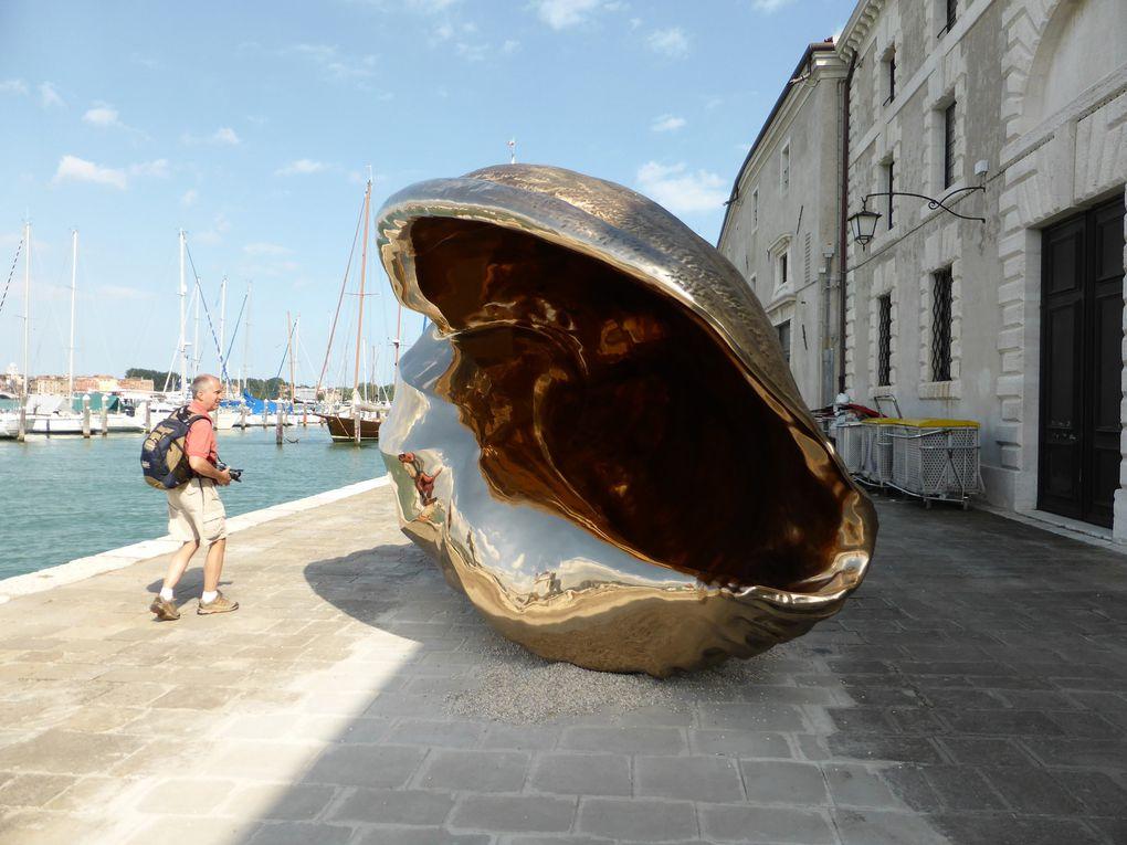 Isola di San Giorgio Maggiore. Breath et autres oeuvres de Marc Quinn. 55e Biennale de l'art, Venise, 2013 © Photographies Antoine Prodhomme, journées presse Biennale mai 2013.