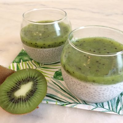 Pudding de chia, coulis kiwi