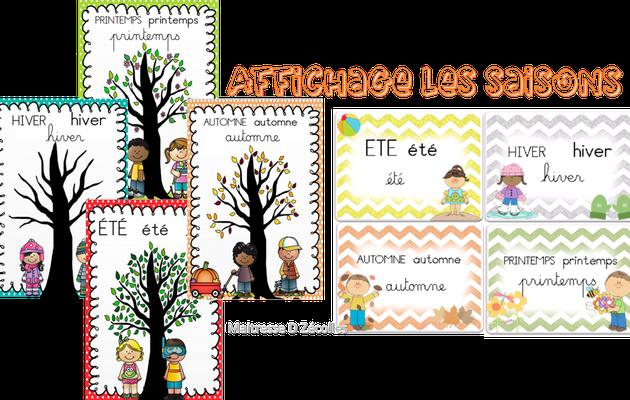 Affichage de classe : Les saisons