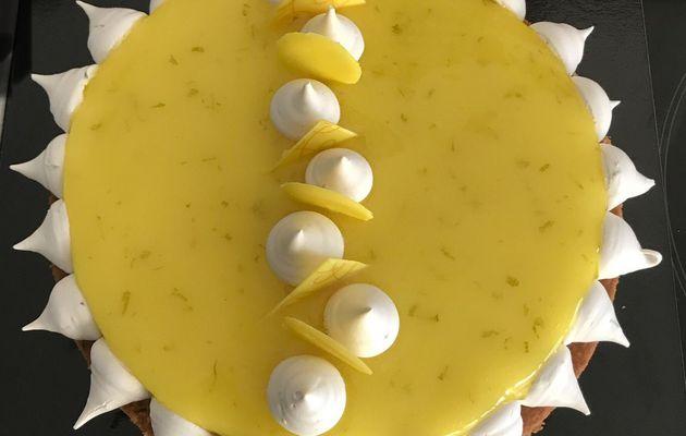 Tarte au Citron meringuée «comme un soleil» du Chef De Oliveira