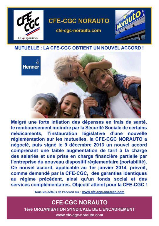 Catalogue non exhaustif des actions et communications CFE-CGC NORAUTO, au service des collaborateurs de l'entreprise