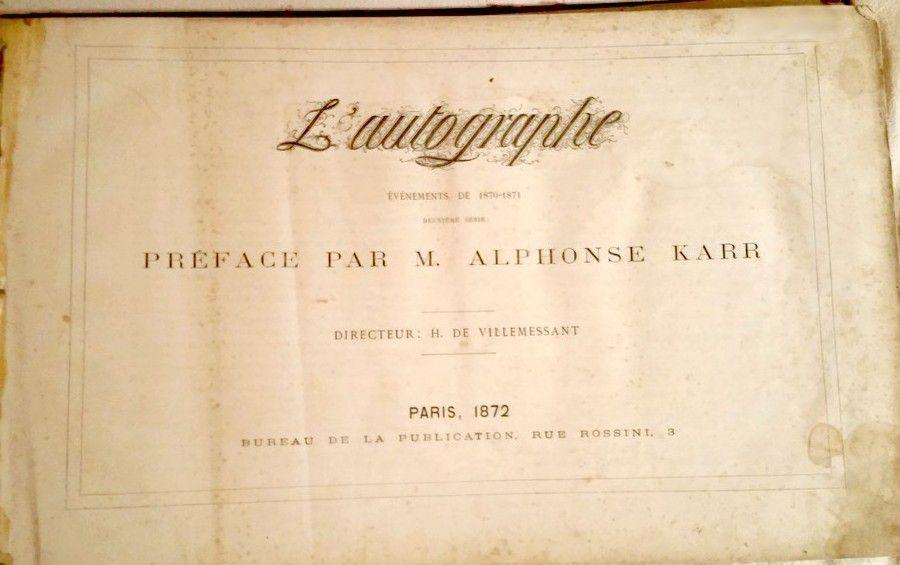 L'Autographe. 2ème Série - Evènements de 1870-1871 .