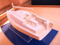 Photos exclusives de la maquette du futur Wrighton 36 BF