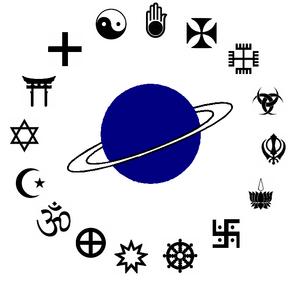 Les religions dans l'espace