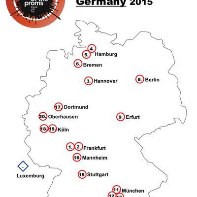 Duitsland landkaart Tour 2015