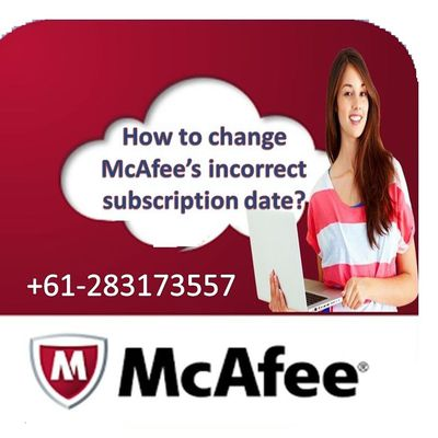 How to change McAfee's incorrect subscription date?