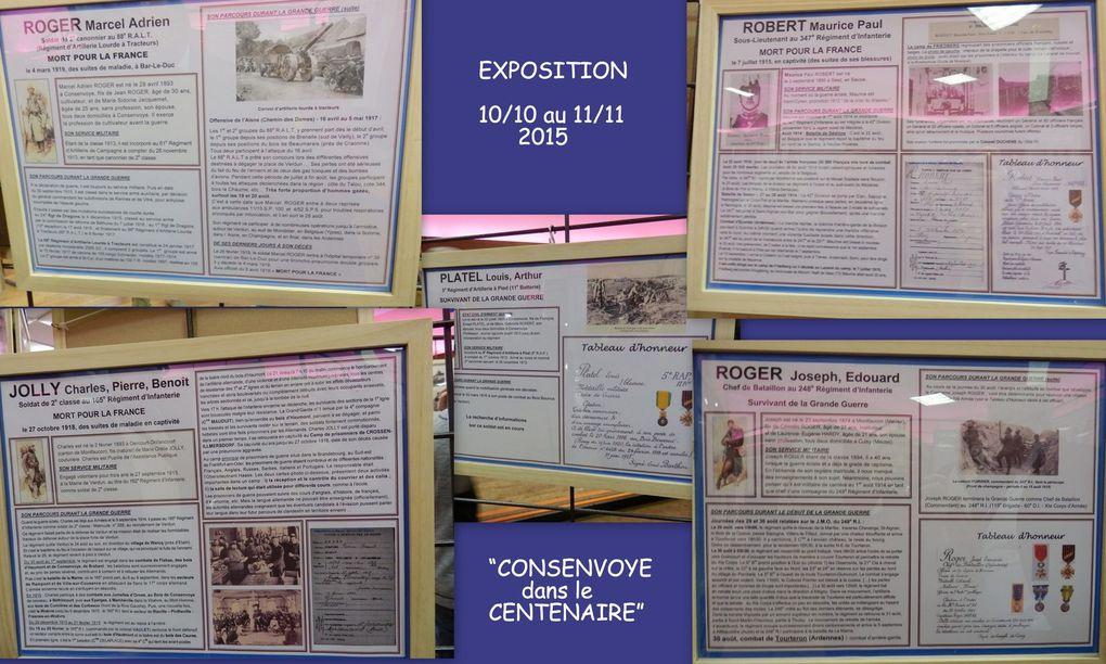 """Inauguration de l' Exposition"""" Consenvoye dans le Centenaire"""""""