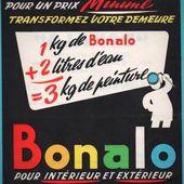 Mardi 28 mai 1957 - La peinture Bonalo - Les carnets d'Emile en Lauragais