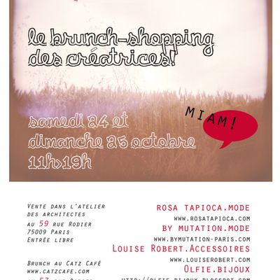 Brunch-shopping des créatrices ce week-end