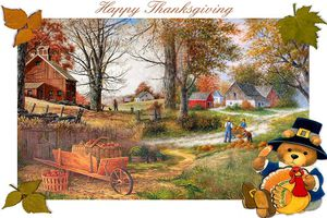 Carte à imprimer ~Thanksgiving~