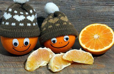 Oranges - Bonnets - Visages - Humour - Hiver - Wallpaper - Free