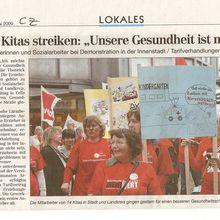 """Celler Kitas streiken: """"Unsere Gesundheit ist mehr wert"""""""