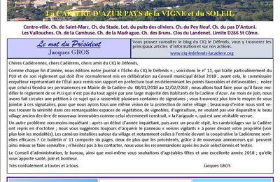 JOURNAL L'ÉCHO DU CIQ LE DÉFENDS A LA CADIÊRE D'AZUR