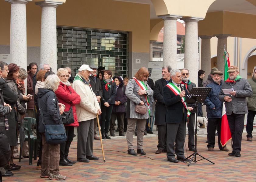 Lissone 22 marzo 2015: inaugurazione del Largo Arturo Arosio