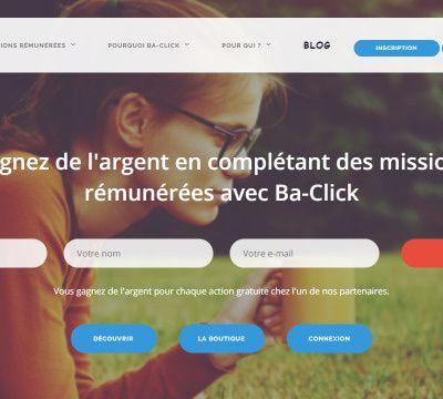 Gagner de l'argent PayPal avec Ba Click