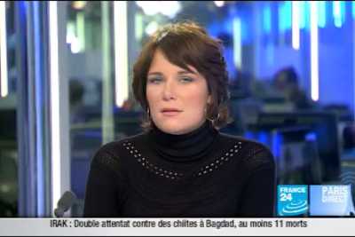2012 01 10 @06H30 - HÉLÈNE DROUET, FRANCE 24, PARIS DIRECT