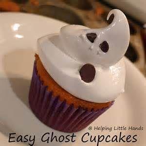cupcakes fantômes bouh j'ai peur