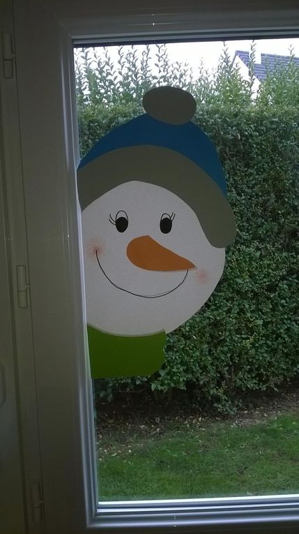 Décorations Noël Fenêtre en papier cartonné