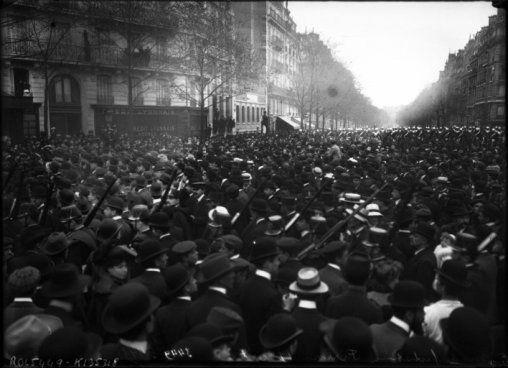Le 17 octobre 1909, « deuxième manifestation Ferrer ».