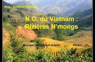 Rizières Hmongs, Nord Vietnam ; diaporama PPS