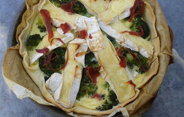 Tarte brocolis camembert