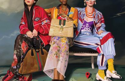 IGNASI MONREAL DRAWN THE GUCCI SPRING 2018 AD CAMPAIGN