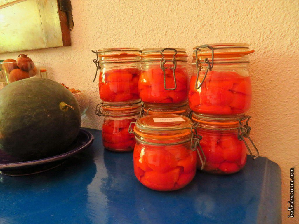 Tomates au naturel et ratatouille