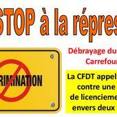 georges Plassat pdg de carrefour: Non aux licenciements des délégués CFDT de Carrefour Villabé
