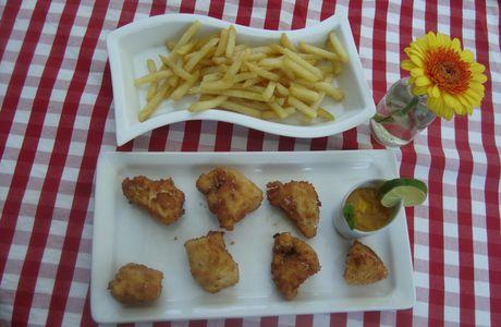Beignets de filets de poulet, chutney* de mangue