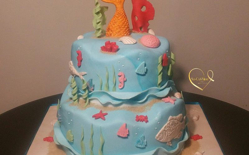 Aquatic Cake - Wave Cake
