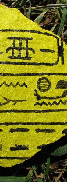 Noms du pharaon SENAKHTENRA TÂA - peinture acrylique sur pierre