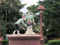 Ville de KAMPOT au Cambodge.