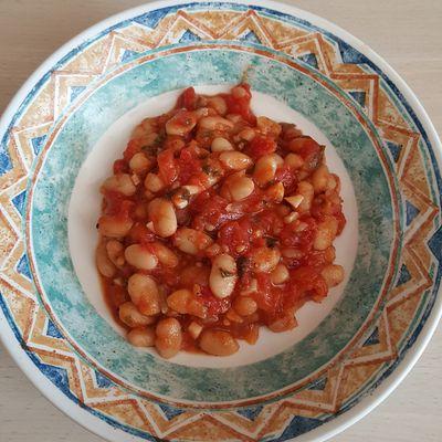 Haricots blancs aux tomates