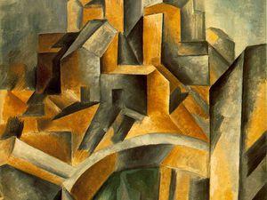 Georg Baselitz  Horta 1988 huile sur toile - Picasso Réservoir à Horta de Ebro 1909