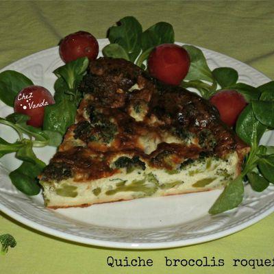 Quiche brocolis roquefort
