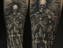 skeleton skull tattoo