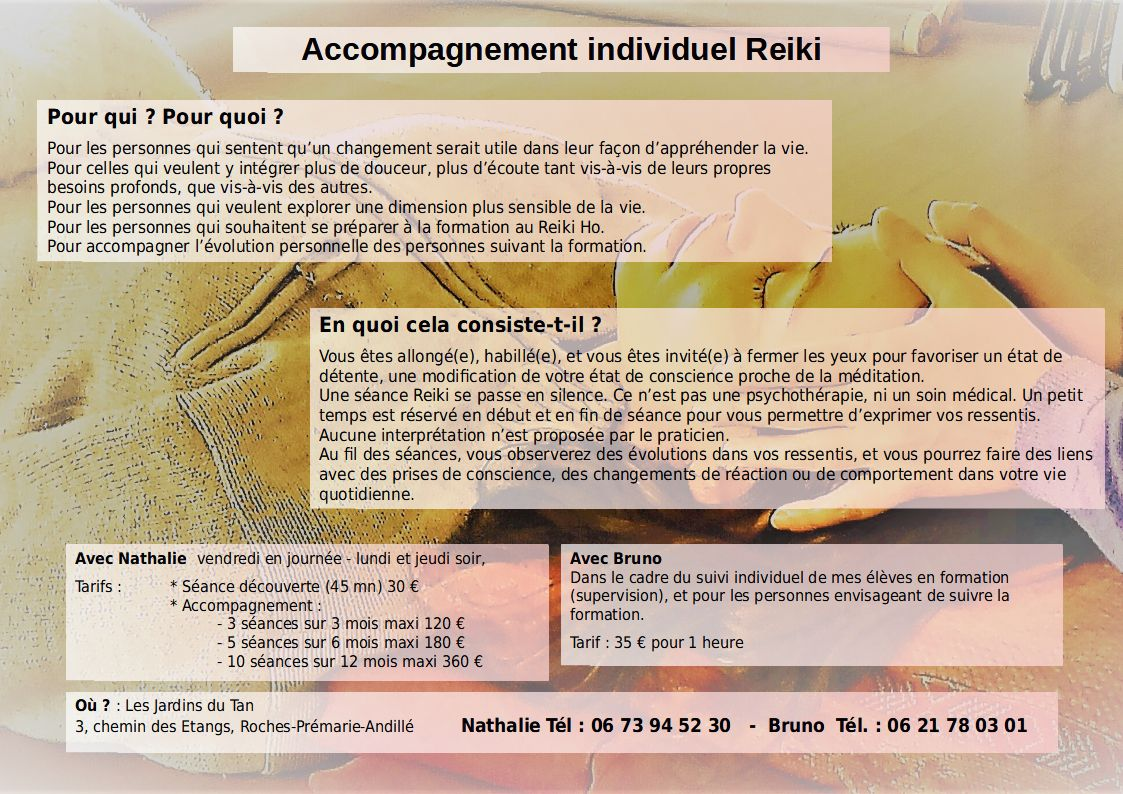 Accompagnement individuel Reiki