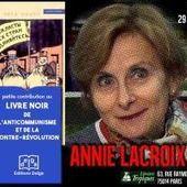 """Une nouvelle conférence d'Annie LACROIX-RIZ autour du livre """" Le livre noir de l'anticommunisme """" : Mercredi 29 novembre 2017 à 19h30 à Paris - Commun COMMUNE [le blog d'El Diablo]"""