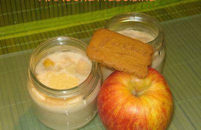 Yaourts aux speculoos et pommes caramélisées